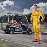 Ryan Hunter-Reay Indy Car Champion and Garia Golf Car